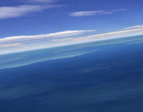 שומר מסך - טיסה מעל הים