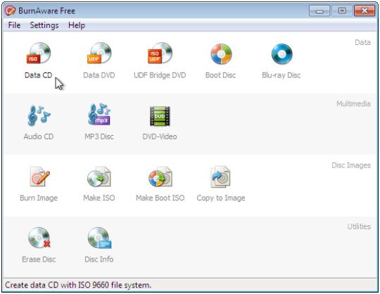 BurnAware Free Edition-צריבת דיסקים