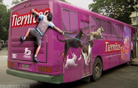 פרסומות אוטובוס