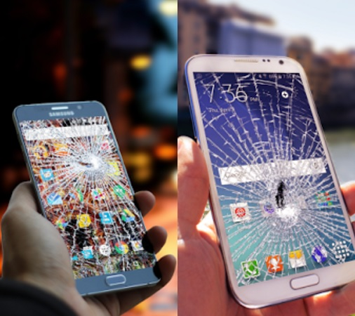 מסך שבור - אפליקציה