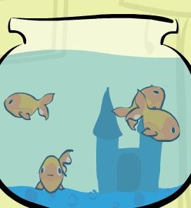 דגי הזהב והמחבת