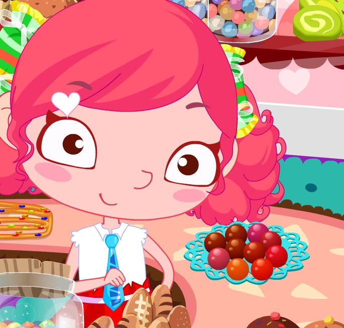 שרה המפוזרת בחנות ממתקים