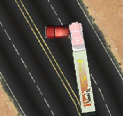 משאית בפול גז