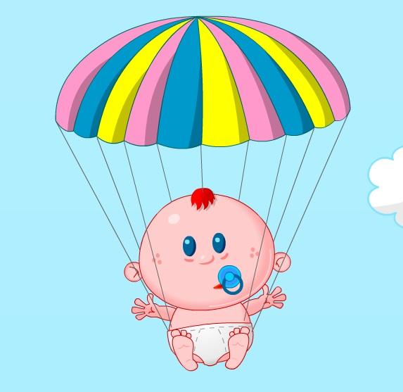 תינוק בצניחה