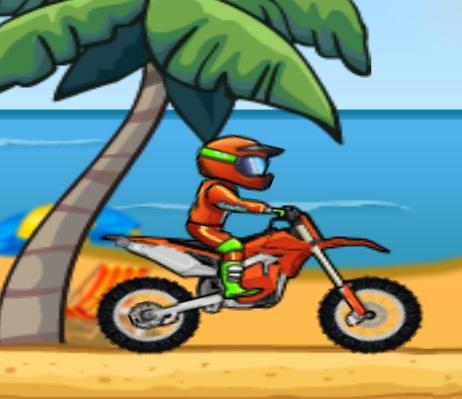 אופנוע בחוף