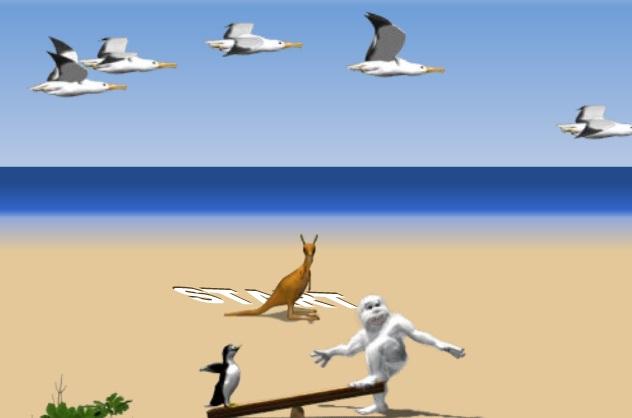 הפינגווין והציפורים - יטי