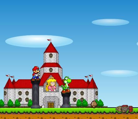 סופר מריו - הגן על הטירה