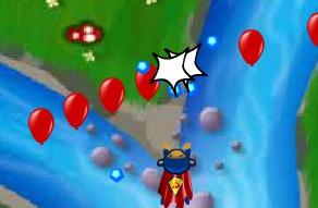 סופר קוף מפוצץ בלונים
