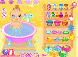 לקלח את התינוקת