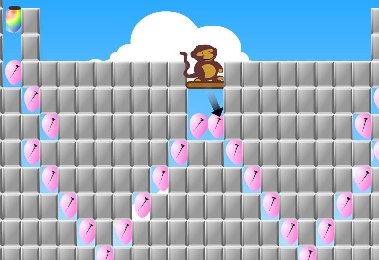 טירוף הבלונס - הקוף והבלונים - קשה מאוד