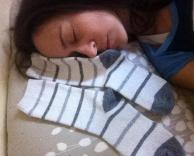 לישון עם גרביים