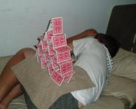 מגדל קלפים בטוח