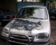 ציור על מכונית