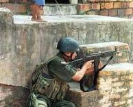ילד משתין על חייל
