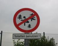 לא לחרבן ביער