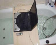 מחשב באמבטיה