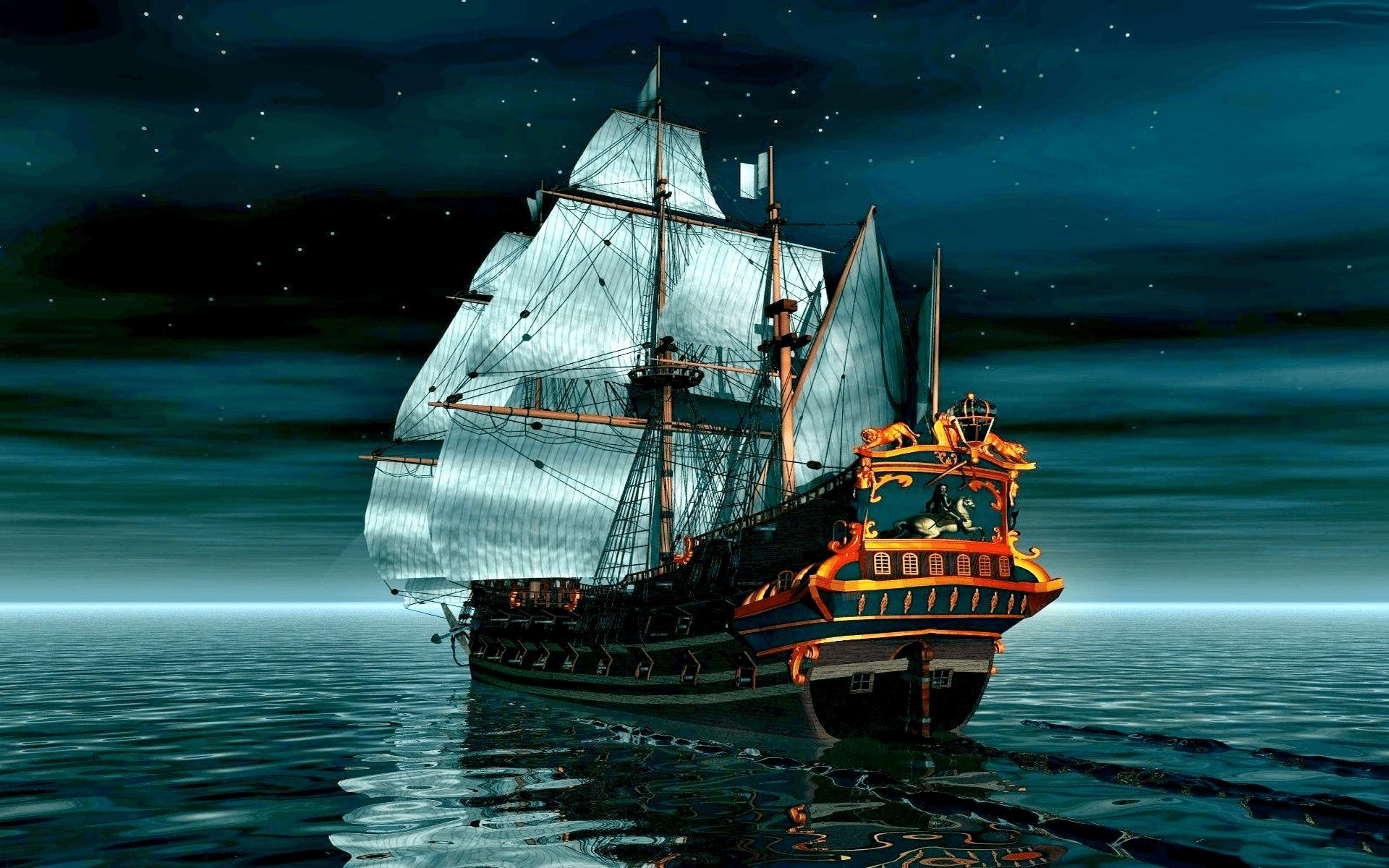 ספינה בלב ים